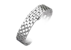Butterfly Buckle Solid Stainless Steel Band 5 Beads Bracelet Strap 20 22 24 26mm Watchband High-End Men&Women Classic Elbow Wristband pictures & photos