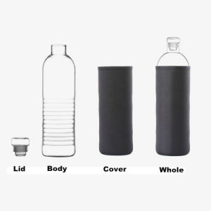 household Drinking Glass Pure Water / Mineral Water Bottle (DC-HH-500) pictures & photos