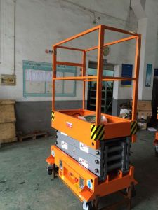 Self Propelled Hydraulic Mini Scissor Lift (Max Height 3.8m) pictures & photos