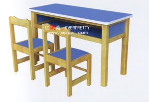 Modern Children Furniture Square Wooden Kid′s Desk and Chair pictures & photos