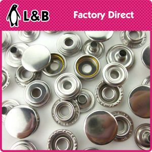 Classic 4 Parts Metal Snap fastener Button pictures & photos