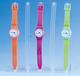 Place Five Watches Transparently on a Transparent Plastic Watch Stand pictures & photos