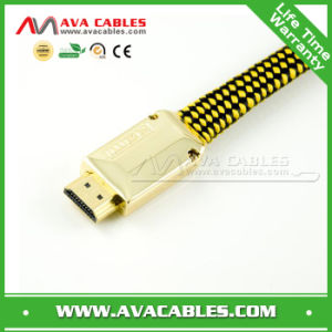 New Premium 24k Gold Plated HDMI Cable 2160p 3D Ultra HD Support HDMI 2.0 HDMI 1.4 (HC025-G)