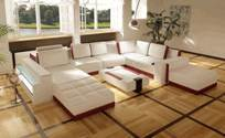 Leather Corner Sofa (JJ161)