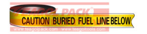 Detectable Warning Fuel Line Tape pictures & photos