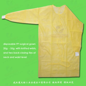 Disposable PE, PP+PE, CPE, SMS, PP Surgical Gown pictures & photos