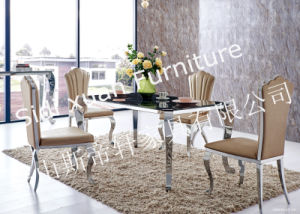 Contemporary Stainless Steel Legs Artificial Marble Dining Table, Marble Top Dining Table, Stone Dining Table pictures & photos