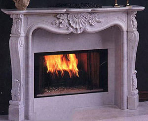 Stone Fireplace Mantel Marble Fireplace (SK-1580) pictures & photos
