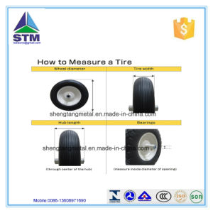 """4.80/4.00-8""""-Inch Flat Free Wheelbarrow Tire with Ribbed Trea pictures & photos"""
