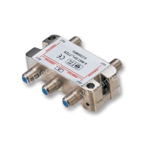 4 Way F Connector CATV/Sat Distribution Splitter--Heavy Duty Style (WD20A-013) pictures & photos
