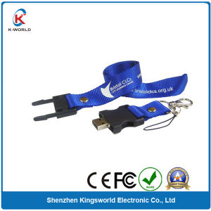 Custom Logo Plastic Lanyard USB Flash Drive (KW-0349)