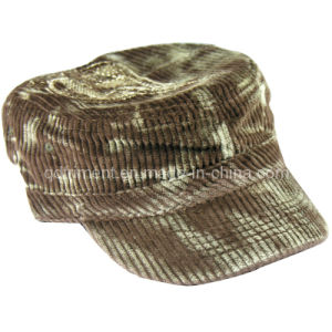 Monkey Washed Corduroy Embroidery Leisure Military Cap (TRNM019) pictures & photos