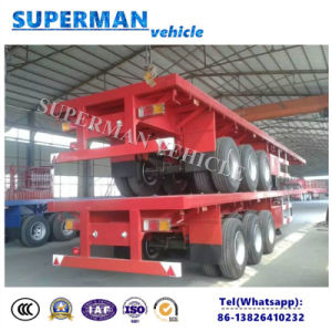 40FT Cargo Transport Flatbed Cargo Semi Trailer pictures & photos