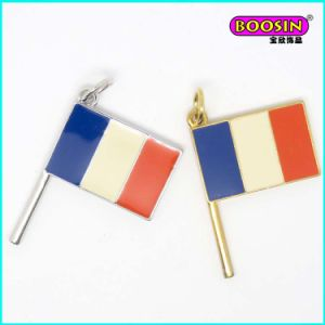 New Custom Made Zinc Alloy Enamel Flag Pendant pictures & photos