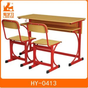 Study Chairs Tables School Classroom Wooden Furniture pictures & photos