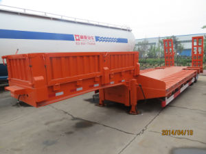 Ramp Lowbed Trailer Heavy Equipment Transport Lowbed Semi Trailers pictures & photos