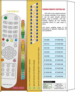 High Quality Universal Remote Control (URC-3) pictures & photos