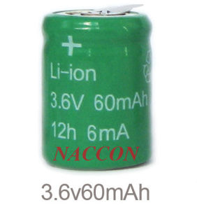 Naccon Li-ion Rechargeable Batteries (Lion-3.6V-60mAh) pictures & photos