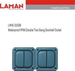 LWIE-D2GB IP66 Waterproof Double Two Gang Doorbell Switch Outlet
