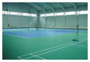 Sand Patter Sports PVC Flooring 4.5mm*1.5m*20m/Roll pictures & photos