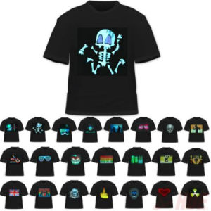 Gradient Equalizer Music LED EL T-Shirt pictures & photos