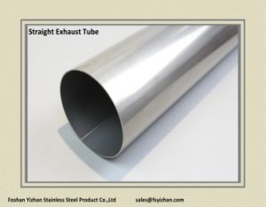 2 1/2 Inch 304 Stainless Steel Straight Exhaust Pipe pictures & photos
