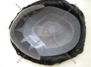 Zigzag Mono Base Human Hair Toupee pictures & photos