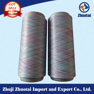 100% Polyester 75D/72f Space Dyed Yarn for Flyknit pictures & photos