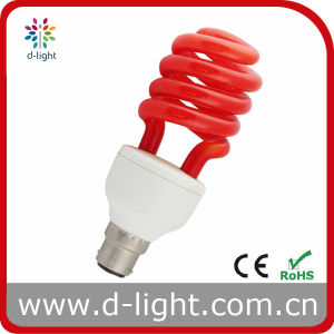 Red Spiral Electricity Saving Bulb