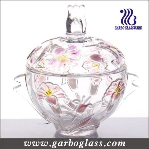 Colored Glass Candy Jar (GB1805LB/P1) pictures & photos