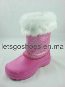 Lovely Waterproof PVC EVA Snow Boots (21JK11015) pictures & photos