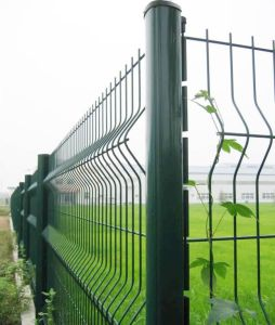 Three Curve Welded Wire Fencing with Peach Post in 50X200mesh pictures & photos