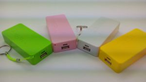 Double Perfume Soap Shape Portable Power Bank with Chain (OM-PW022) pictures & photos