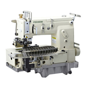 12-Needle Flat-Bed Double Chain Stitch Sewing Machine (tuck fabric seaming) pictures & photos