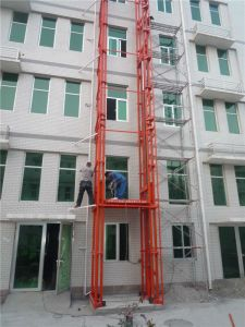 Fixed Guide Rail Hydraulic Lift Platform for Construction pictures & photos