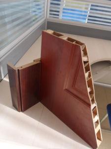 Teak Solid Wood Door PVC MDF Door with Glass pictures & photos