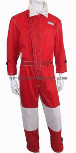 Men′s Nylon Coverall Combined With White T/C Twill
