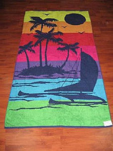 100% Cotton Terry Jacquard Beach Towel
