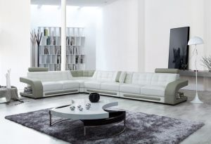 Modern Italian Leather U Shape Sofa for Home (LC-019)
