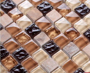Crystal Glass Mosaic Tile (HGM219) pictures & photos