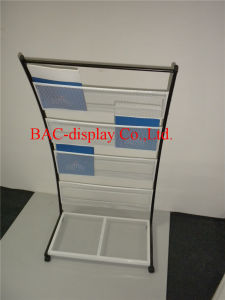 Factory Direct Supply White Powder-Coated Wire Mesh Bookshelf pictures & photos