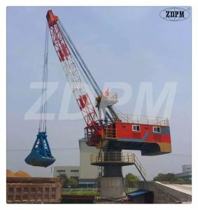 Floating Ship Crane Dock Vessel Fixed on The Deck Electrical Offshore Shipping