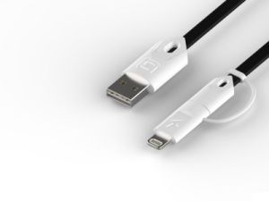 Charging Cbale Micro and iPhone 2 in 1 Wire Connector USB Cable pictures & photos