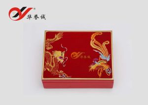 Red Velvet Surface Jewelry Storage Box pictures & photos