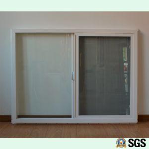 Special Handle, Mosquito Net, White Colour UPVC Profile Sliding Window K02013 pictures & photos