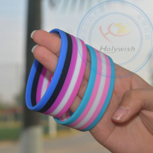 Factory Print Embossed Silicon Bracelet with Your Logo
