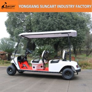 48V Battery Powered and 3-4 Seats Electric Golf Car for Park Use pictures & photos