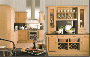 Hot-Selling Kitchen Cabinets Cream Solid Wood Series Kitchen Furniture pictures & photos