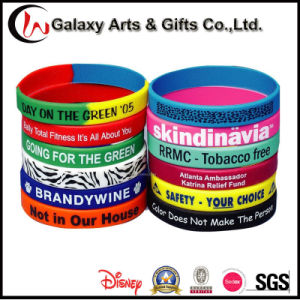 Custom Promotional Fashion Rubber Screenprinted Silicone Bands pictures & photos