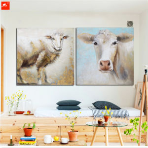 New Two Pieces Wall Picture Puppy Sheep and Cow Oil Painting pictures & photos